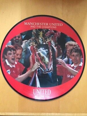 """Manchester United & The Champions - United We Love You 12"""" Vinyl"""