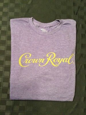 NEW Crown Royal Short Sleeve T-Shirt - Heather Purple - Size XLarge