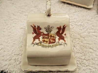 Model Of A Cheese Dish  Crested  Arms Of Wales  By Gemma China