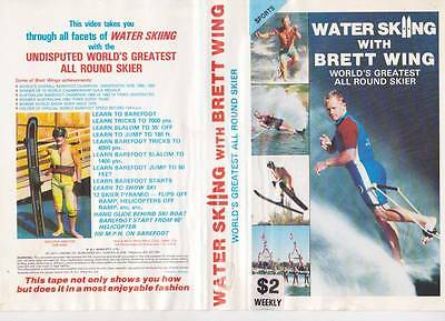 Brett Wing Water Skiing   Pal Vhs A Rare Find~Vintage