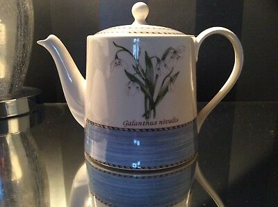Sarah's Garden by Wedgewood Small Snowdrop Teapot (Perfect Condition)