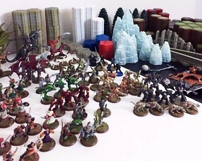 Heroscape Masters 322 Pieces - 230 Terrain + 92 Figures Hero Scape Lot Bundle