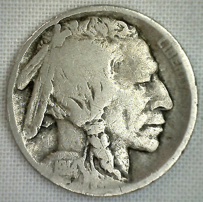 1914 S US Buffalo Nickel Fine Condition Coin VG Indian Head Five Cents Very Good