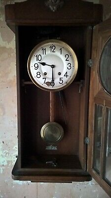 vintage wall clock westminster chime 2.ft 7.inches
