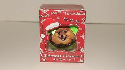 E & S Pets Pomeranian Shatter Proof Christmas Ball Ornament New in Box