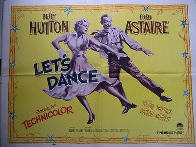 LET'S DANCE original film / movie poster (half sheet) - Fred Astaire