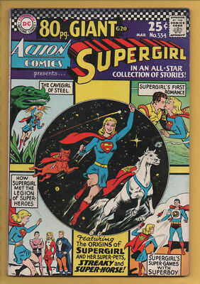 Action Comics #334 DC Comics 1966 Supergirl 80 Pg Giant