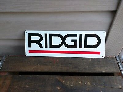 RIDGID Metal Sign Power Tool Rugged Jobsite Tools Contractor Plumbers 4x12 50103