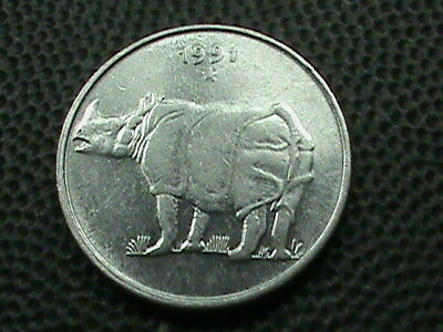 INDIA     25  Paise     1991  -  H