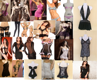 31 x WHOLESALE LINGERIE/ CLOTHES,CLEAR PACKAGING,ONE SIZE,ASST. STYLES,FREE P+P