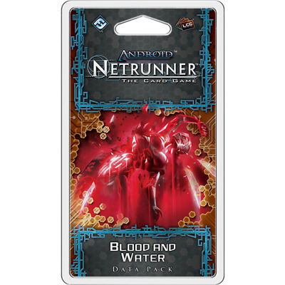 Android Netrunner LCG - BLOOD and WATER Data Pack Expansion, sealed. Near Mint