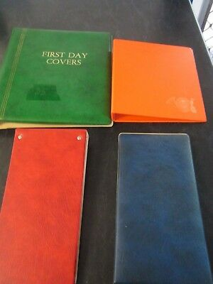 4 x First Day Cover Albums empty no pages, albums only
