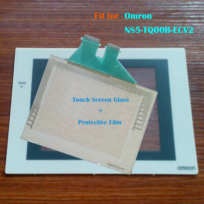 for Omron NS5-TQ00B-ECV2,NS5TQ00BECV2 Touch Panel Glass with Protective Film New