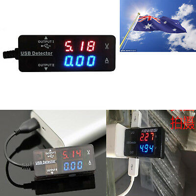 AU Detector Tester USB Power Charger Doctor LED Voltage Monitor Meter For Phone