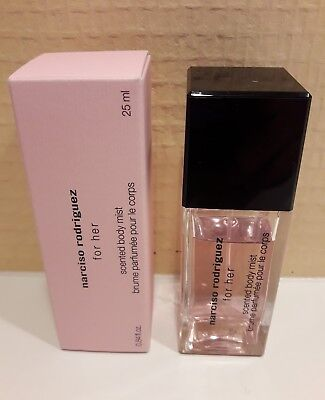 narciso rodriguez for her brume parfumee pour le corps 25ml neuf avec boite