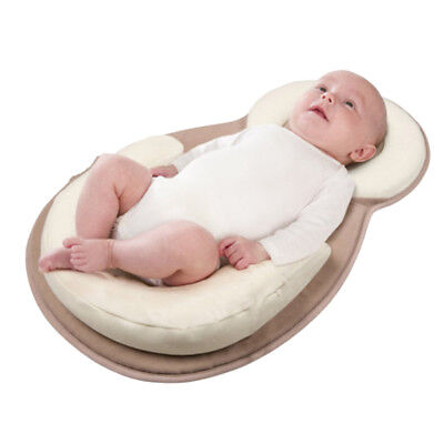 1 Infant Newborn Baby Anti Roll Pillow Sleep Flat Cushion Positioner Prevent