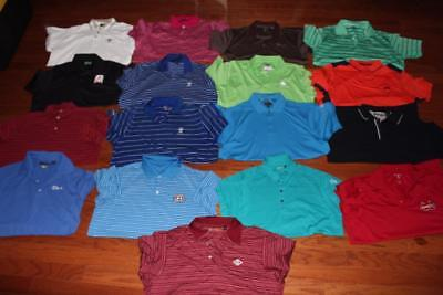 Lot Of 17 Mens Golf Polo Shirts Ralph Lauren Adidas Ben Hogan Greg Norman Large