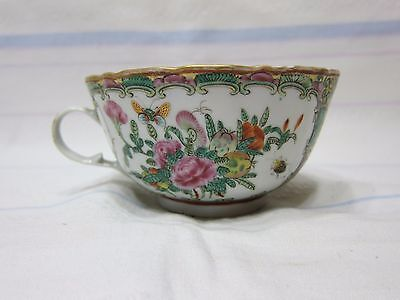 Very nice antique Rose Medallion flutted cup.