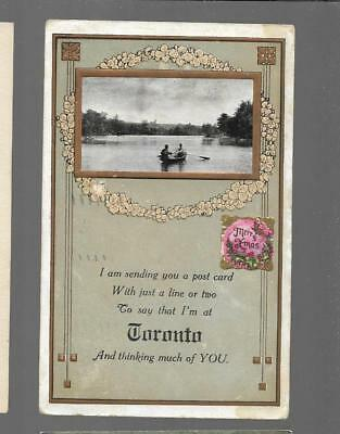 pk31816:Postcard-Vintage Greetings from Toronto,Ontario
