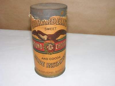 Vtg Ghirardelli Ground Chocolate Cocoa Can