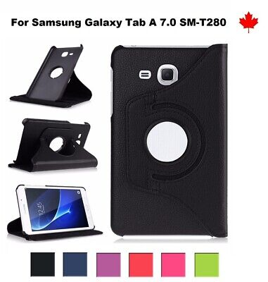 For Samsung Galaxy Tab A 7.0 SM-T280 - 360° Leather Stand Tablet Case Cover