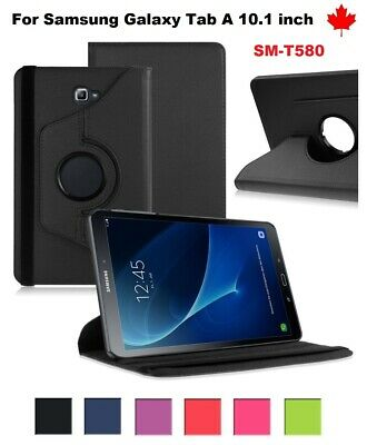 "For Samsung Galaxy Tab A 10.1"" SM-T580 T580N , 360° Leather Stand Case Cover"