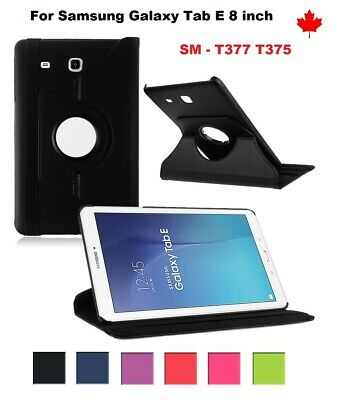 "For Samsung Galaxy Tab E LTE 8"" SM-T377 , 360° Leather Stand Tablet Case Cover"