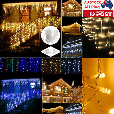LED Curtain String Fairy Lights Christmas Xmas Wedding Party Icicle Lights Lamp