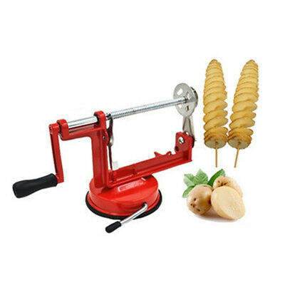 Manual Operation Potato &Fruit  Twister Tornado Slicer Cutter Machine Spiral US
