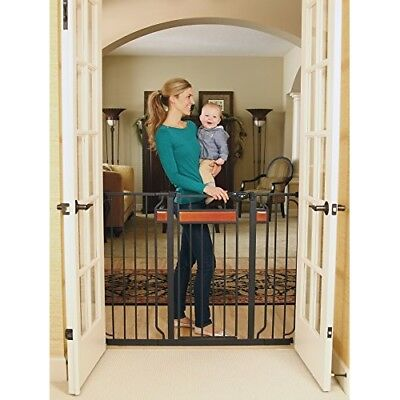 Baby Gate Walk Through Stairs Child Infant Pet Dog Safety Lock Extra Tall Door