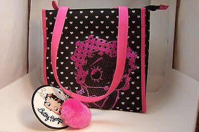 Betty Boop Fashion Tote Hand Bag Pink and Black