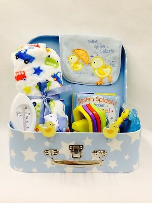 Baby Boy Bath Time Fun Selection Slugs N Snails Suitcase Hamper Large Cardboard