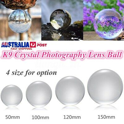 4 Size K9 Crystal Photography Lens Ball Photo Prop Background Home Decor Gift