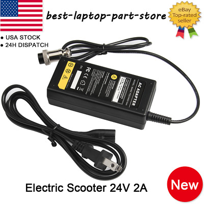 24V 2A Electric Scooter Battery Charger Power for Razor Crazy Cart eSpark E175