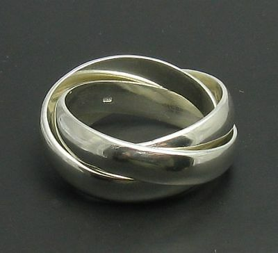 Sterling silver ring solid 925 Triple Band R000642 Empress