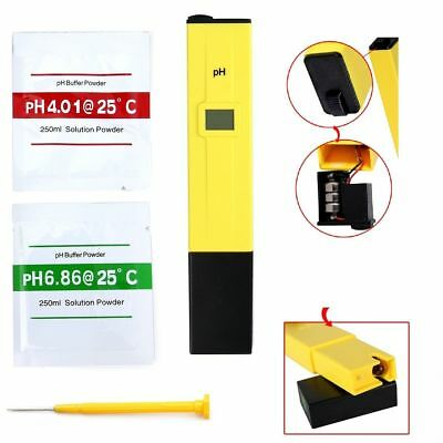 Electric Digital Ph Meter Tester Hydroponics Pen Aquarium Pool Water Test Paper