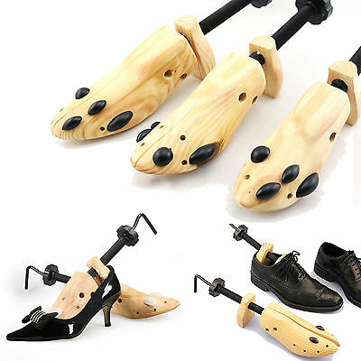 Unisex Wooden Shoes Stretcher Expander Adjustable Professional Shoe Tree 2-Way