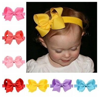 20pc Hair Bows Lot Multi Color Bow Tie Ribbon 4In Girls Kids Baby Girl Toddlers