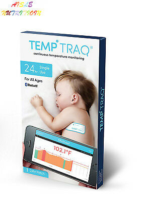 TempTraq Wearable Smart Thermometer – 24HR Continuous Fever Monitoring with...