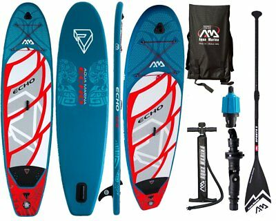 Aqua Marina ECHO 10.6 iSUP Sup Stand Up Paddle Board mit Sport Padde