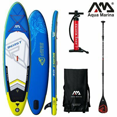 Aqua Marina BEAST 10.6 iSUP Sup Stand Up Paddle Board mit Carbon Paddel
