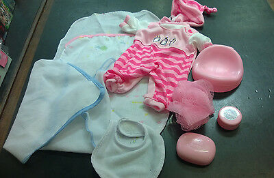 Baby doll clothes and accessories potty soap dish changing mat babyborn doll