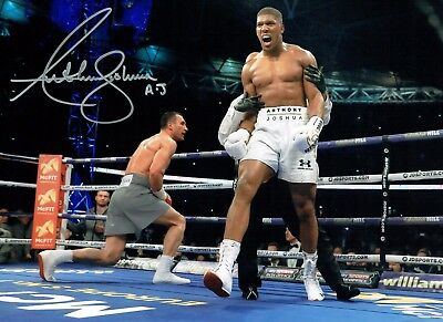 Anthony JOSHUA World Champion Boxer Signed 16x12 Photo B AFTAL COA RARE