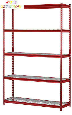 "Muscle Rack UR184872-R 5-Shelf Steel Shelving Unit, 48"" Width x 72"" Height..."