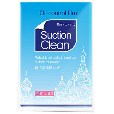 50x Oil Controls Films Wipes Sheets Absorbing Face Blotting Paper Grease XC
