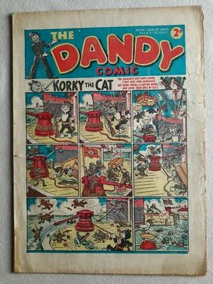 Dandy comic #141. 1940. War - time issue. Fair cond.