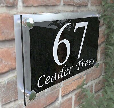 Large Contemporary House Sign Plaques Door Number 1 - 999 Door numbers PAR13WB