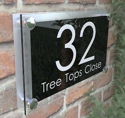 Large Contemporary House Sign Plaques Door Number 1 - 999 Door numbers PAR27WB