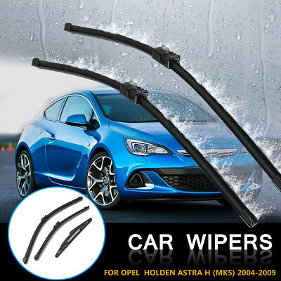 Rear Front Car Windshield Boneless Wiper Blade Set For Opel Holden Astra H (MK5)