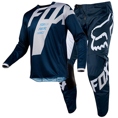 New FOX Racing MX 2018 180 MASTAR NAVY Mens Motocross Jersey & Pants Outfit Moto